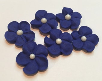 100 Mini Royal Icing flowers  for Cake Decorating