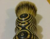 Black and White Colorwood Shaving Brush, Chunky Handled, 26mm Silvertip #SH19
