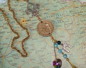 France, Vintage Coin - - Vive la France - - Paris - World Traveller - History - Grand Tour