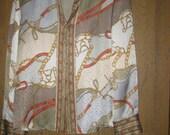 talbots silk blouse equestrian