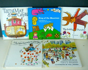 Holt, Rinehart and Winston Hardcover Vintage Books, 1970's, You Choose a Title, Stories for Preschoolers, Bright Retro Illustrations