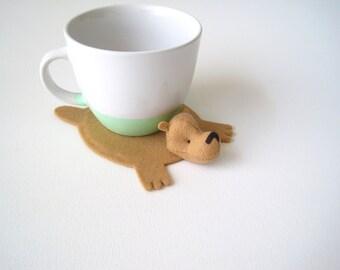Bear Rug Coaster (one)
