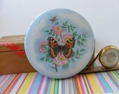 Vintage Daher Tin, Butterfly Tin, Daher Decorated Ware, Made in England, English Sweets Tin, Candy Toffee Tin
