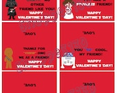 Instant Download Star Wars Inspired Valentines Treat Bag Toppers