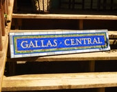 RESERVED LISTING for Michelle Gallas - New York City Subway Mosaic Sign / Plaque - Gallas Central