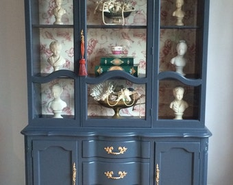 French china cabinet in graphite color