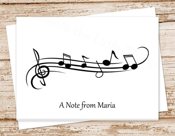 musical note card
