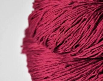 Poisoned blood OOAK  - Silk Fingering Yarn - knotty skein
