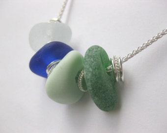 SS seaglass jewelry Seaglass sterling beach Glass necklace Beach Glass Jewelry