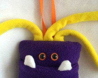 Tooth Fairy Pillow | Purple and Yellow | Tooth Fairy Monster Pillow