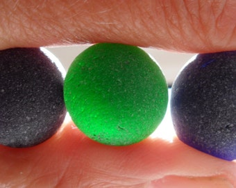 Rounded Blues/Green - Seaham English Sea Glass - Free Shipping (4877)