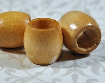 Large hole wood beads, 12mm, hole size is 10mm, #874