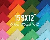 "Wool Blend Felt // 15 9x12"" Sheets // Choose your own colors // Wool Felt Sheets, Felt Sampler, Rayon Fabric, Craft Felt, Colorful Supplies"