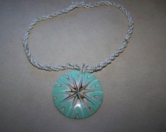 Beautiful Beaded Pendant Necklace