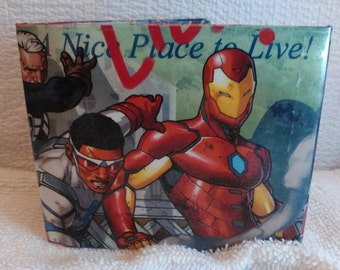 Comic Book Wallet - The All-New All Different Avengers With Original Cap