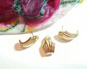 Pendant & Pierced Earrings Vintage Jewelry Set