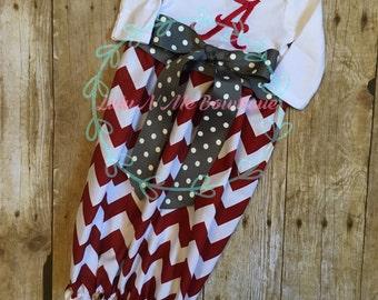Alabama Crimson Tide baby gown, Alabama dress, crimson and grey dress
