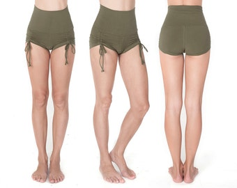 High Waisted Shorts - Booty Shorts - Yoga Shorts - High Waisted Shorts - Yoga Shorts - Rave Shorts - Organic Yoga Clothing - Sexy Shorts