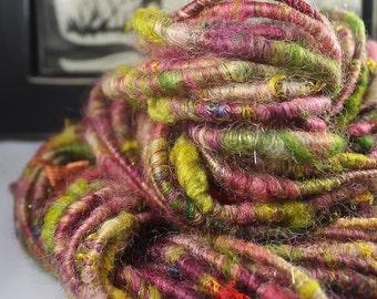 Handspun Art Yarn Corespun Fleecespun  Sheeping Beauties 'At My Best'