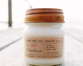 Rustic Mason Soy Candle