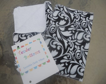 12 Ct Unpaper Towels with Terry Cloth Backs by Tender Bottoms, sized 10x12 inches