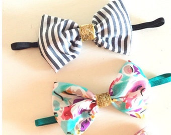 Glitzy bow set
