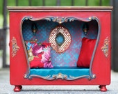 RESERVED Nook bed Roombox Diorama  Vintage Dollhouse Blythe  Monster High Dal Pullip Lati Yellow Barbie Furniture Momoko
