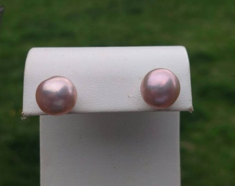 AAA Grade12mm Akoya Japanese Pearl stud earrings Bridal earrings Bridesmaid gift taupe pink freshwater pearl earrings fashion earrings