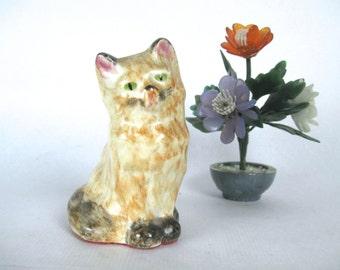 vintage cat figurine - orange tabby