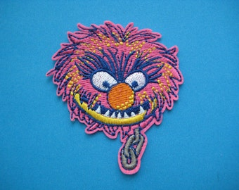 Iron-on Embroidered Patch Muppet ANIMAL the drummer  3 inch