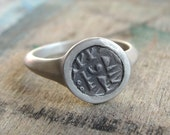 Ancient Coin Ring , Signet Ring , Silver and Ancient Islamic Coin Ring , Statement Ring , Ancient Coin Jewelry