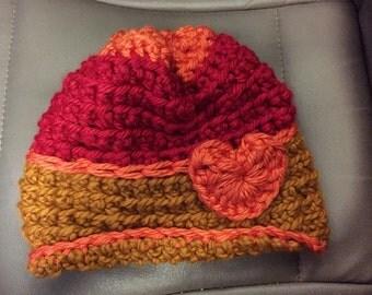 Retro color flip brim slouchy hat