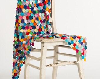 Crochet pattern : Flower Mosaic Shawl