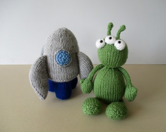 Alien Adventure toy knitting patterns