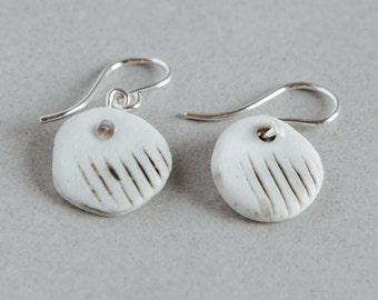 Porcelain earrings, ceramic danglies