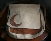 Vintage 1970s Suade Crescent Moon Bag