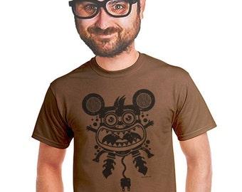 abstract t-shirt art original design t shirt electric mouse trendy tshirt for men funky gift t shirt screen print fresh large xl 2xl 3xl 4x