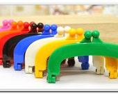 "4 inch 10 cm Purse Frame, Jelly Clip, purse handle, bag frame, bag hardware, plastic acrylic resin closure, 4"",8 color"