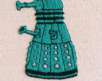 Embroidered Blue Dalek