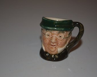 Tiny Royal Doulton character jug - toby mug - miniature - made in England