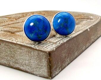 Turquoise Cufflinks - Paradise Blue Turquoise Cufflinks - Blue Cufflinks