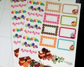 Sweet banner and boxes  Planner Stickers
