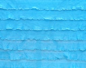 "Destash: 1"" Turquoise ruffle fabric"