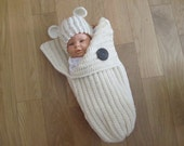 Crochet Pattern No. 10 Baby Bunting and Hat with Ears