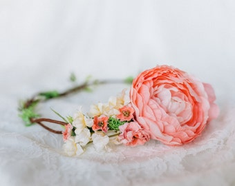 Adele Flower Crown - Photography Prop