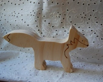 Wood Fox for Nature Table or Display