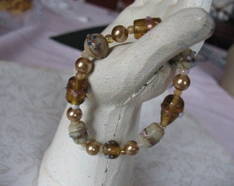 Iced Coffee Beaded Bracelet