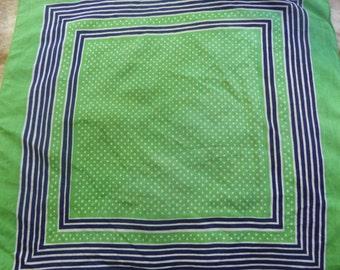 Vintage Green polka dot Bandana Scarf