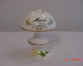 Vintage March Birthday Oil Lamp Figurine  16 - 199