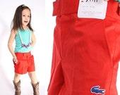 Final SALE 70% Off - Vintage 1960s Children's NOS Red Izod Lacoste Trouser Shorts / Vintage Shorts /  Girls Shorts / Boys Shorts / Trouser S